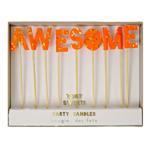 'Awesome' Cake Candles