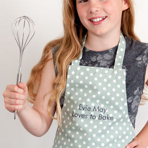 Personalised Child's Apron Madelaine Sage