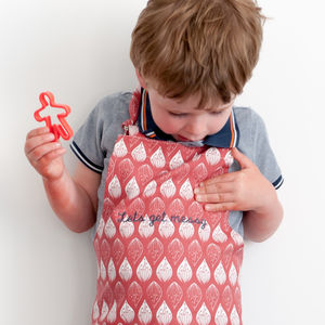 Personalised Child's Apron Isabella Red - aprons
