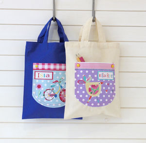 Girls Mini Personalised Shopper Bags