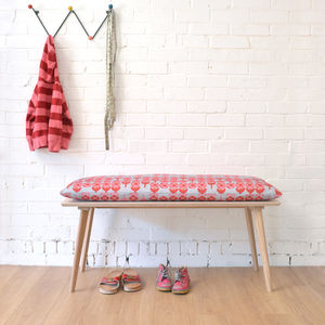 Perky Plywood Bench With Verdure Cushion - benches
