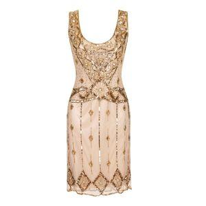 Embellished Flapper Dress - dresses