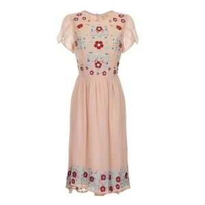 Rebecca Floral Skater Dress - women's fashion