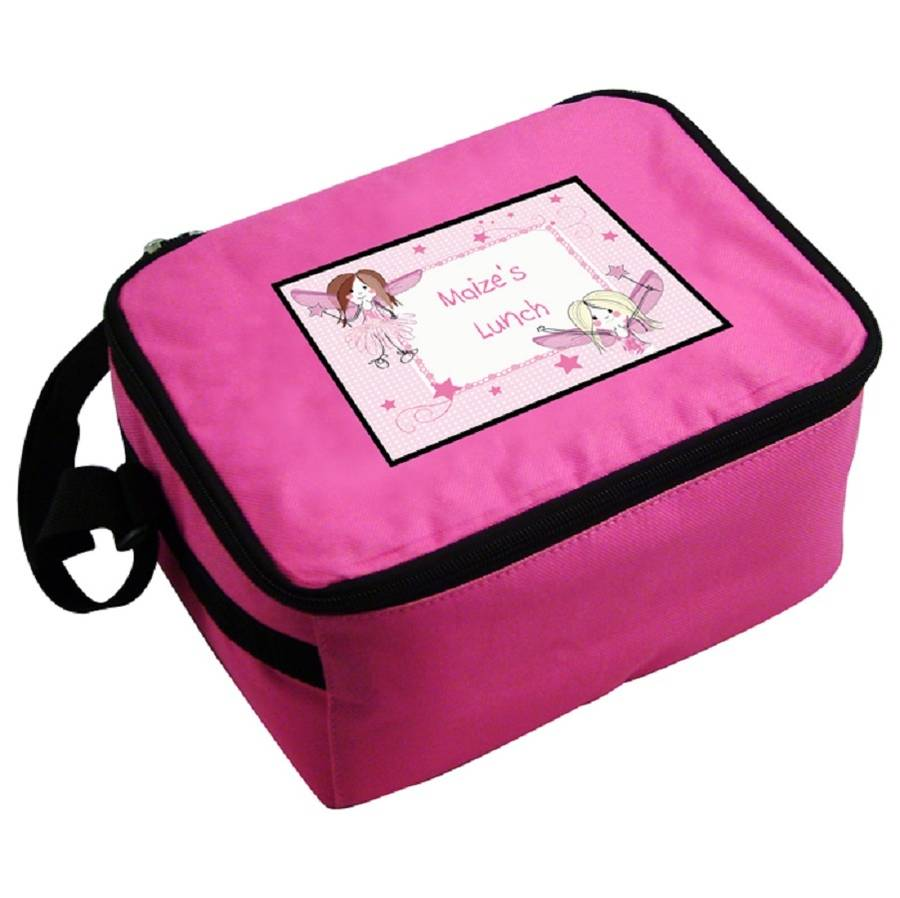 Personalised Pink Fairy Lunch Bag