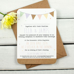 Burlap Bunting Evening Invite
