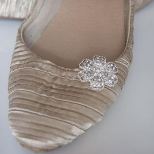 Wedding Shoe Clips Diamante Flowers