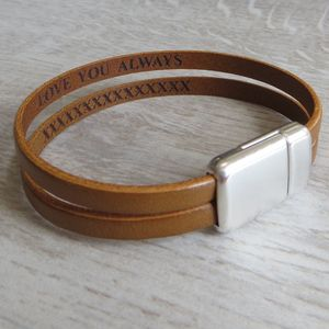 Secret Message Double Strap Bracelet - men's sale