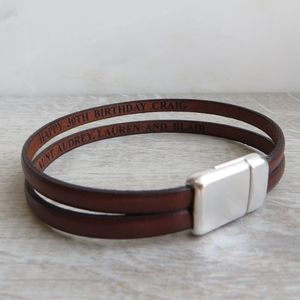 Secret Message Double Strap Bracelet - men's jewellery