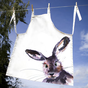 Inky Hare Apron - children's cooking