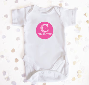 Personalised Monogram Name And Initial Babygro - personalised birthday gifts