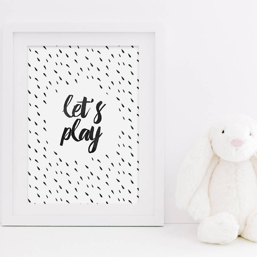 lets play kids room art print - Prints For Kids