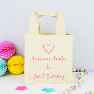 Personalised 'Awesome Auntie' Tote Bag - bags & purses