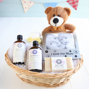 Pamper New Mum & Baby Gift Basket - hampers & gift sets