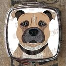 Staffie Dog Compact Mirror