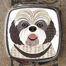 Shih Tzu Dog Compact Mirror