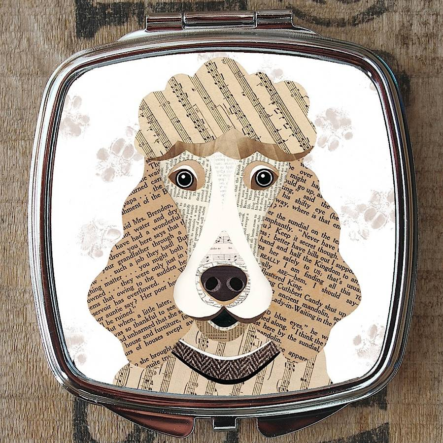 Poodle Dog Compact Mirror