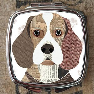 Beagle Dog Compact Mirror