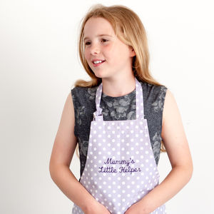 Personalised Child's Apron Madelaine Lavender