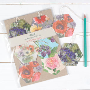 Vintage Floral Garden Luxury Gift Tags - cards & wrap