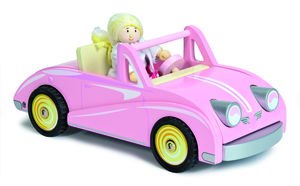 Chloe's Pink Wooden Coupe