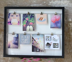 Black Metal Clip Line Photo Display - picture frames for children