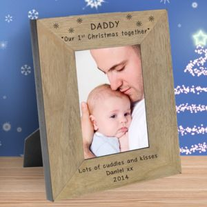 Daddy Our 1st Christmas Together Personalised Frame