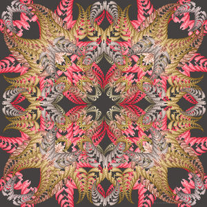 Symmetrical Fern Silk Scarf