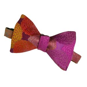 Handmade Silk Floral Mens Bow Tie
