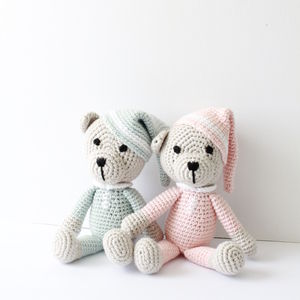 Hand Crochet Teddy With Hat