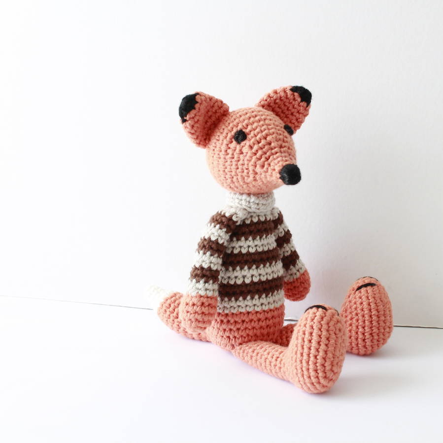 Hand Crochet : hand crochet little fox by attic notonthehighstreet.com