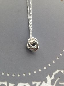 Eternity Solid Silver Medium Pendant