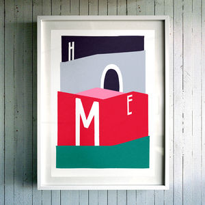 Home. Fine Art Giclée Print - modern & abstract