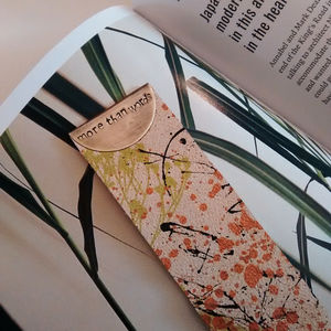 More Than Words Leather Bookmark - book-lover