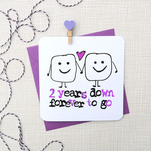 Personalised Countdown Years Anniversary Card - view all sale items