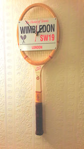 Tennis Racket Wall Clock