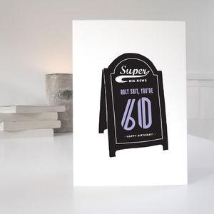 Humorous 60th Birthday Card