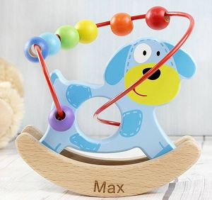 Personalised Rocking Dog Wooden Toy - traditional toys & games