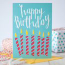 Red Candles Happy Birthday Card