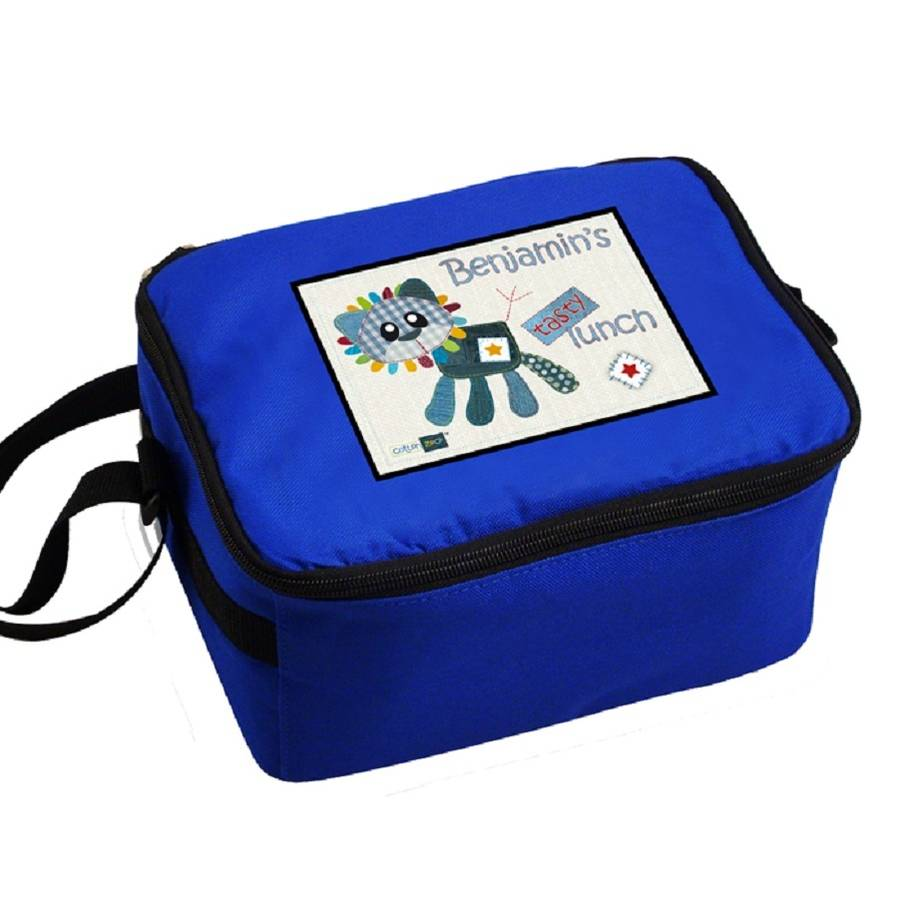 Personalised Boys Lion Lunch Bag