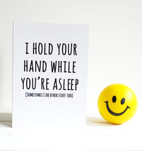 Naughty Greetings Card 'I Hold Your Hand'