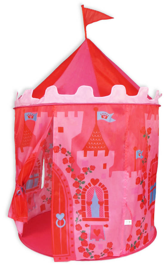 pink princess castle pop up tent by the little blue owl. Black Bedroom Furniture Sets. Home Design Ideas