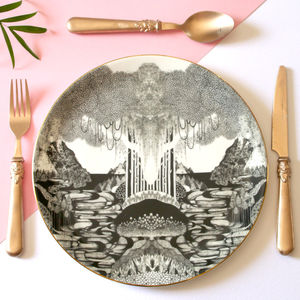 Neverland Illustrated Dinner Plate