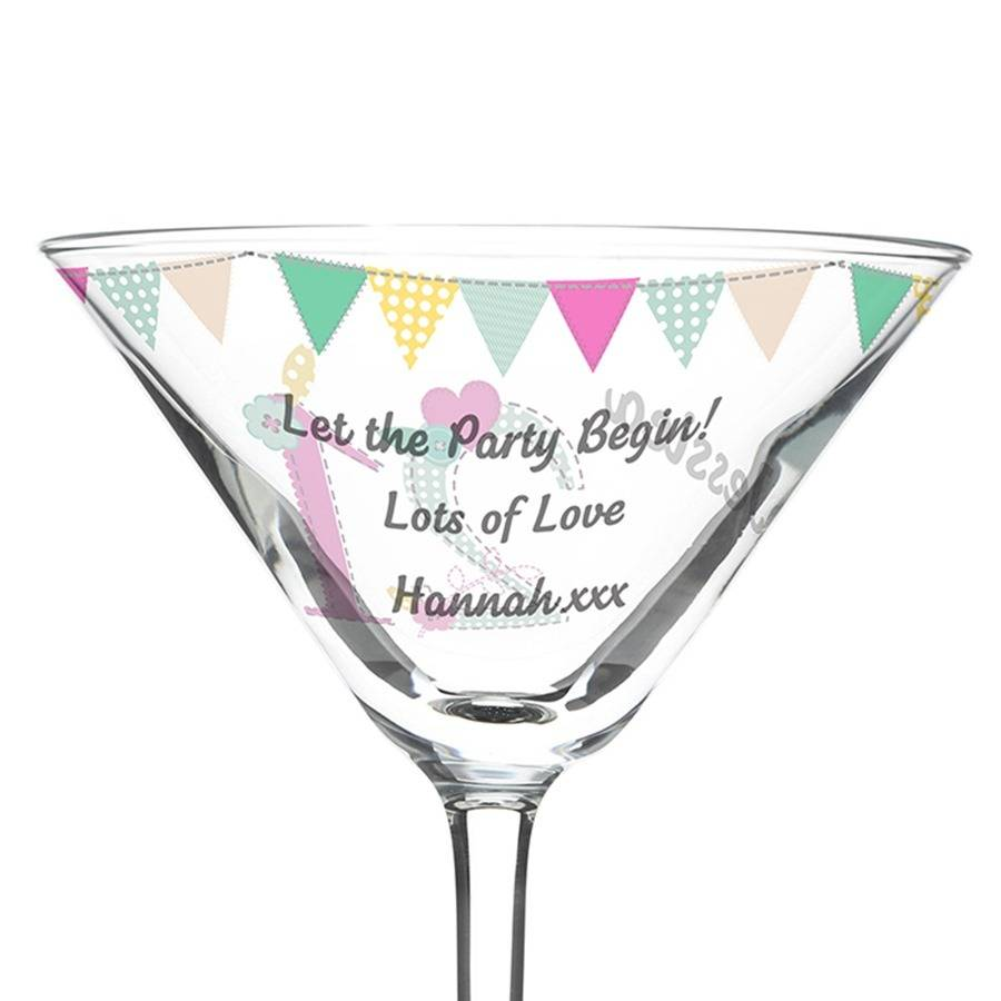 Beautiful U0027Big Ageu0027 Personalised Cocktail Glass Images