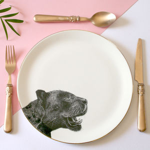 Panther Illustrated Dinner Plate