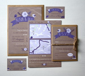 Love Bird Wedding Invitation Bundle