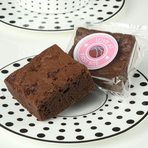 Box Of 16 Personalised Gluten Free Chocolate Brownies - gluten free food gifts