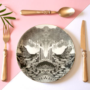 Neverland Illustrated Side Plate - crockery & chinaware