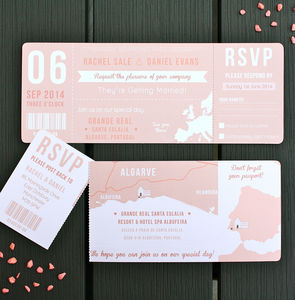 Boarding Pass Wedding Invitation Bundle - invitations