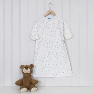 Silver Star Baby Sleepsuit