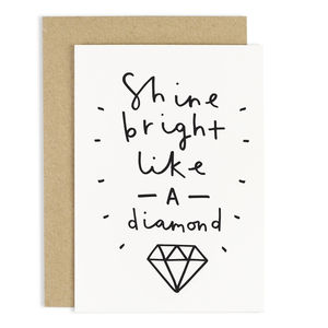 Shine Like A Diamond Card - leaving cards